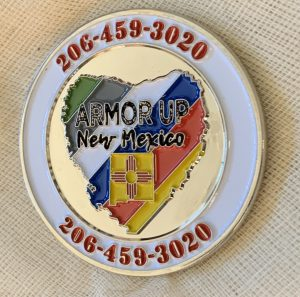 Armor Up NM Challenge Coin side 1